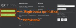 1 Prihlasenie a registracia